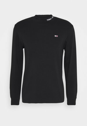 LONGSLEEVE HIGH NECK TEE - Long sleeved top - black
