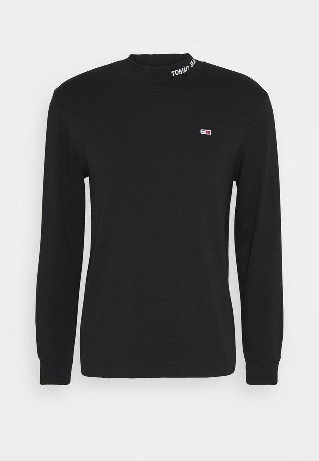 LONGSLEEVE HIGH NECK TEE - Pitkähihainen paita - black