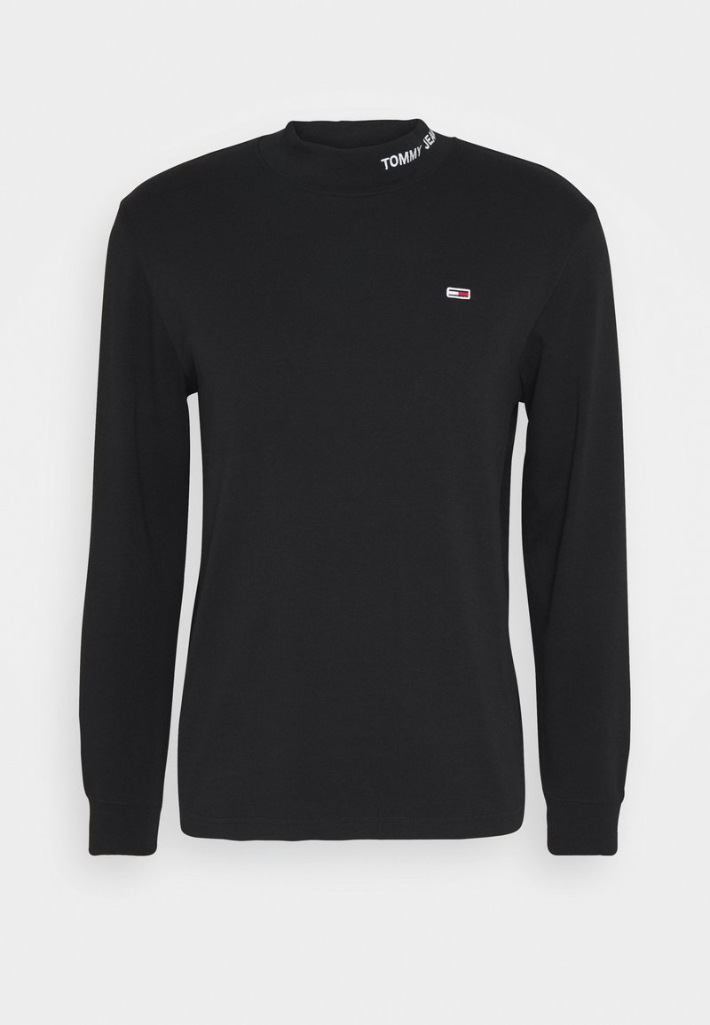 Tommy Jeans - LONGSLEEVE HIGH NECK TEE - Langærmede T-shirts - black