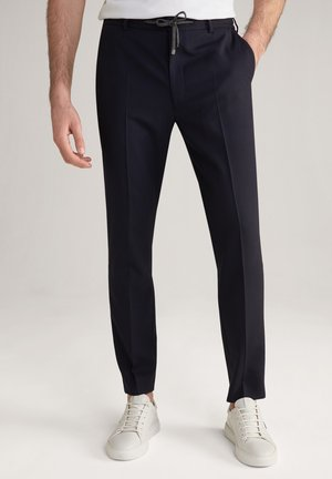 Trousers - navy kariert
