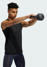 adidas Performance - TURF SL T PRIMEGREEN TECHFIT TRAINING WORKOUT SLEEVELESS T-SHIRT - Sports shirt - black - 3