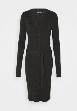 PCFRENCH V NECK DRESS - Jumper dress - dark grey melange