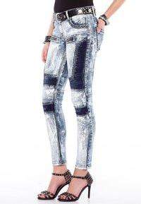 Cipo & Baxx - MIT BIKER-ELEMENTEN - Jeans Skinny Fit - blau - 3