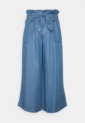 WIDE CROP - Jeans Relaxed Fit - blue