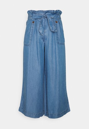 WIDE CROP - Relaxed fit jeans - blue