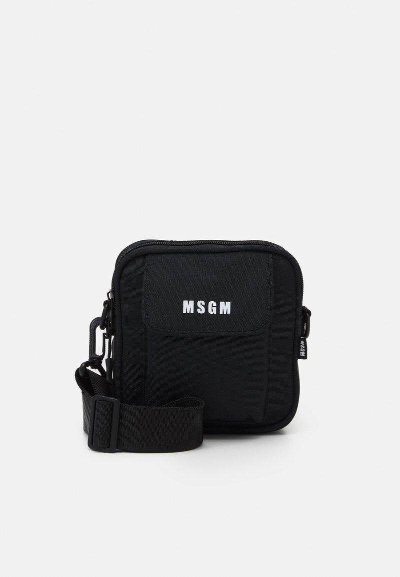MSGM - CAMERA BAG LOGO UNISEX - Across body bag - black