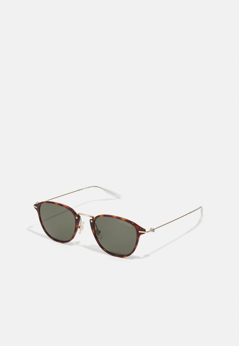 Mont Blanc - UNISEX - Sunglasses - havana/gold-coloured/green