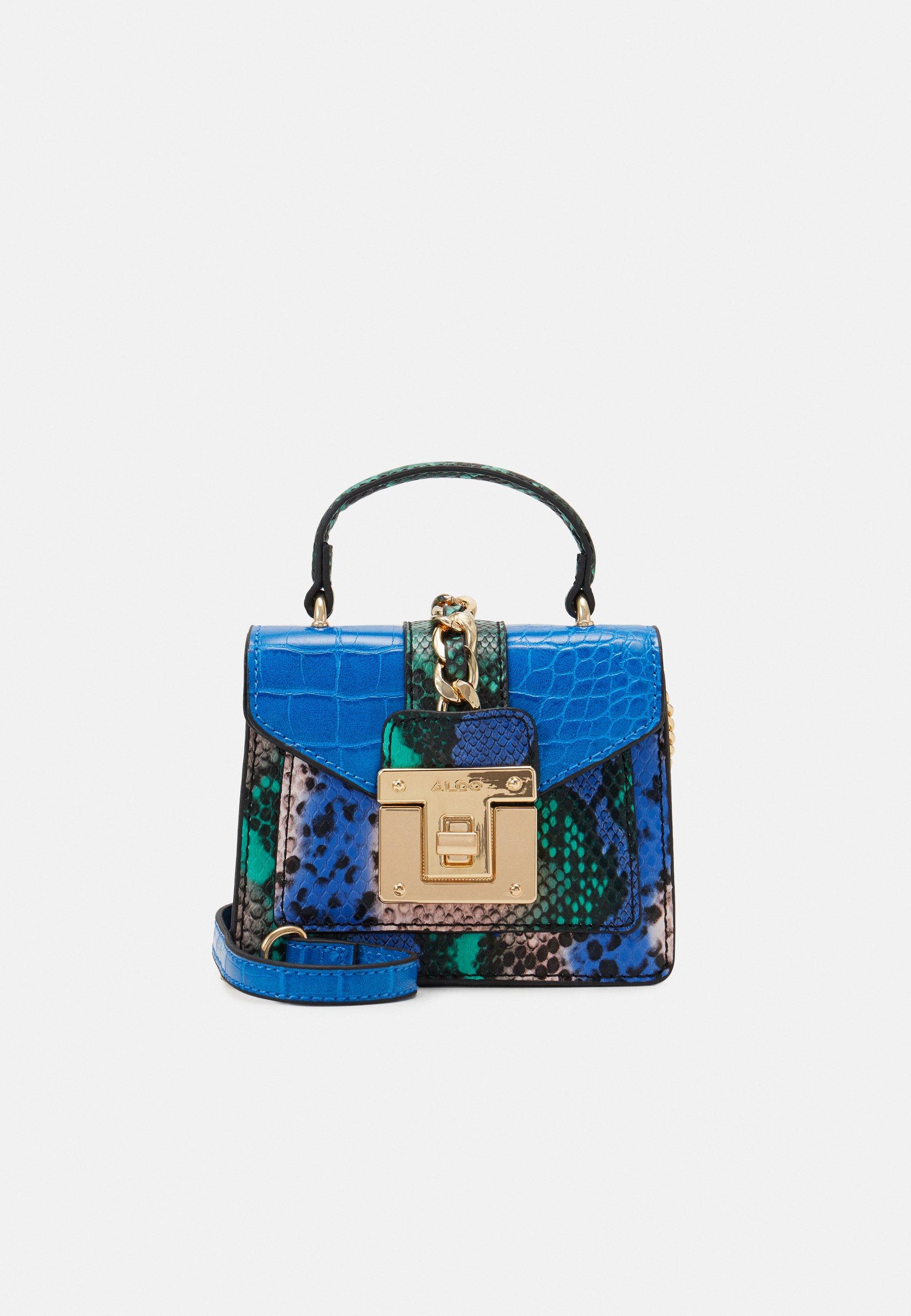 Elegante BORSETTA SHOPPING BAG BORSA DA DONNA Maritim Look Vintage Beige Blu Donna