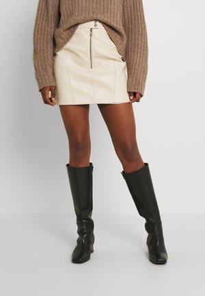 LAURA - Mini skirt - beige