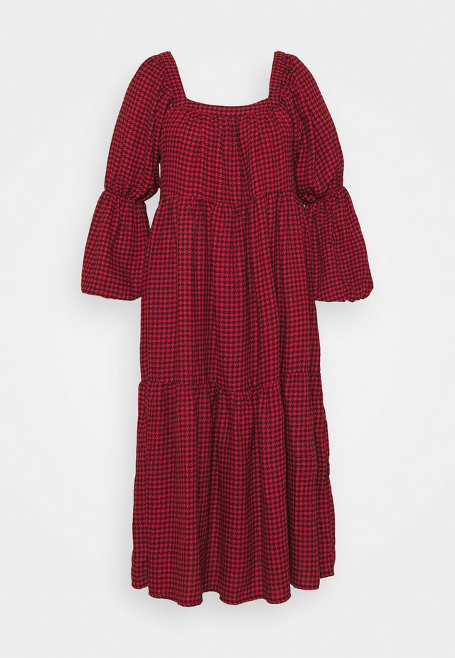 DOGTOOTH SMOCK DRESS - Korte jurk - red