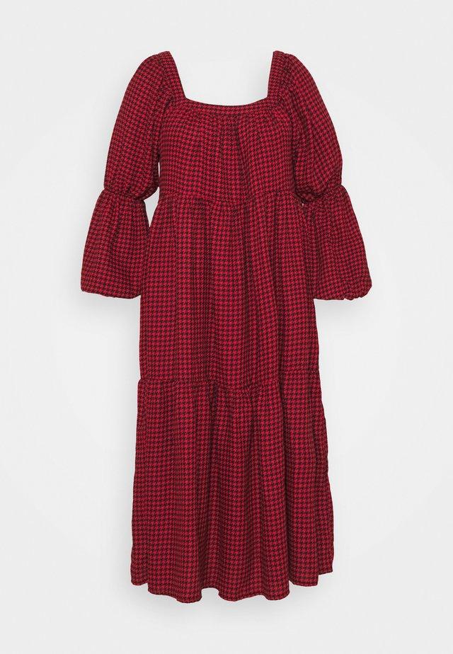 DOGTOOTH SMOCK DRESS - Robe d'été - red