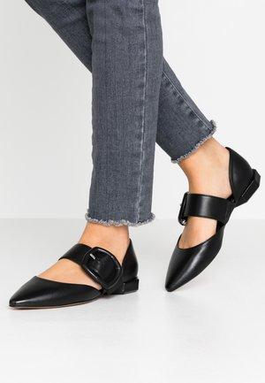 Ankle strap ballet pumps - nero