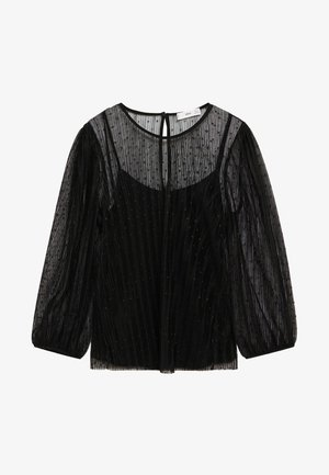MAURA - Long sleeved top - schwarz