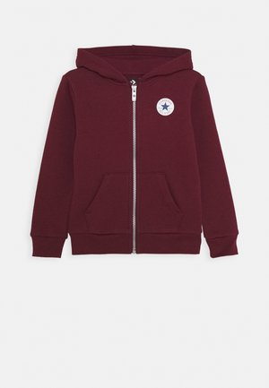 CHUCK PATCH FULL ZIP HOODIE  - Sweatjacke - dark burgundy