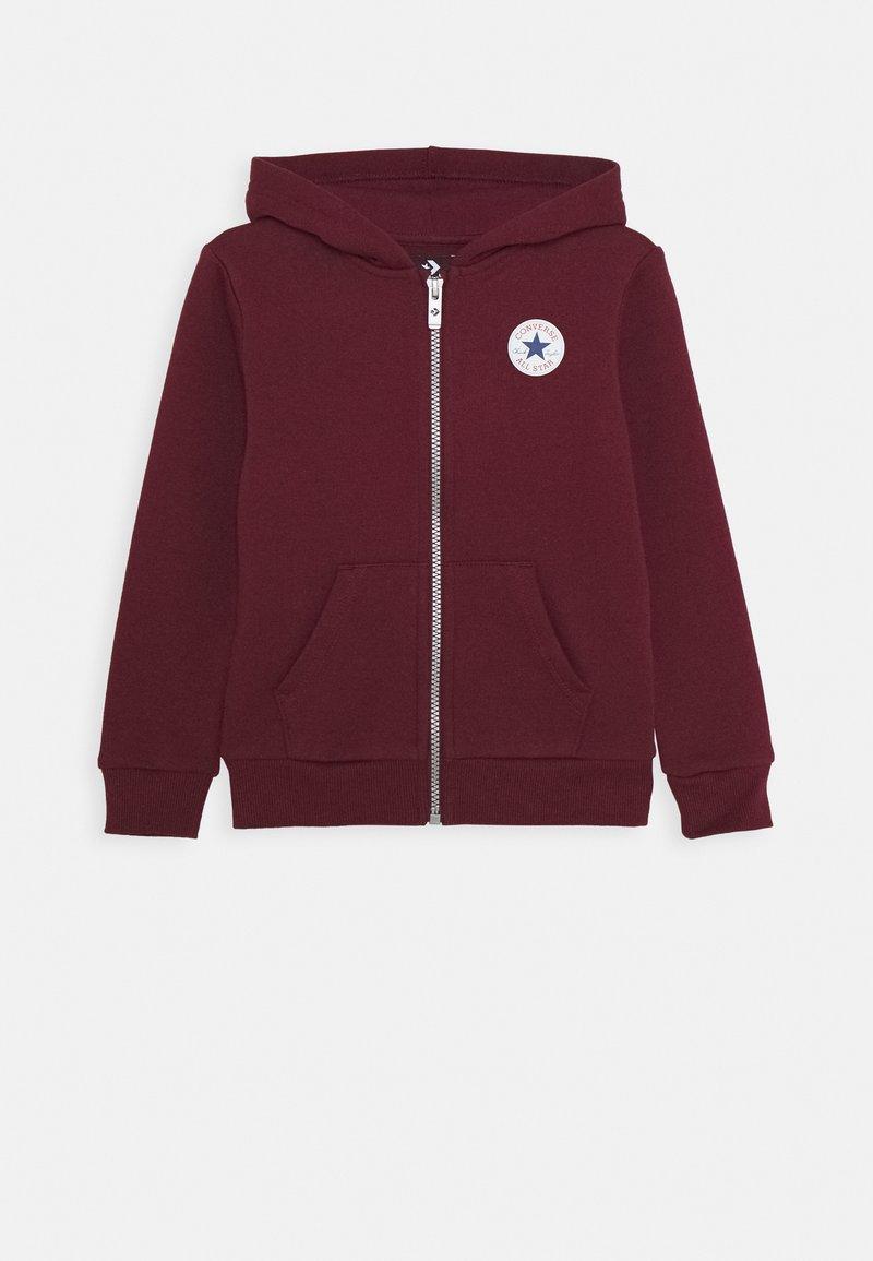 Converse - CHUCK PATCH FULL ZIP HOODIE  - Zip-up hoodie - dark burgundy