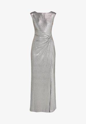 GLISTENING LONG GOWN TRIM - Occasion wear - dark grey/silver