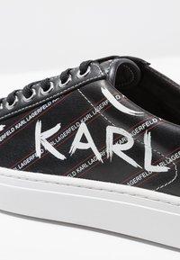 KARL LAGERFELD - KUPSOLE BRUSHSTROKE LACE - Trainers - black/white - 2
