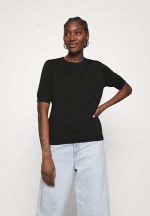 POLLY - Basic T-shirt - black