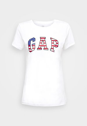 FLAG TEE - Print T-shirt - white
