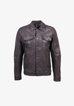 DERK-FN - Leather jacket - anthra