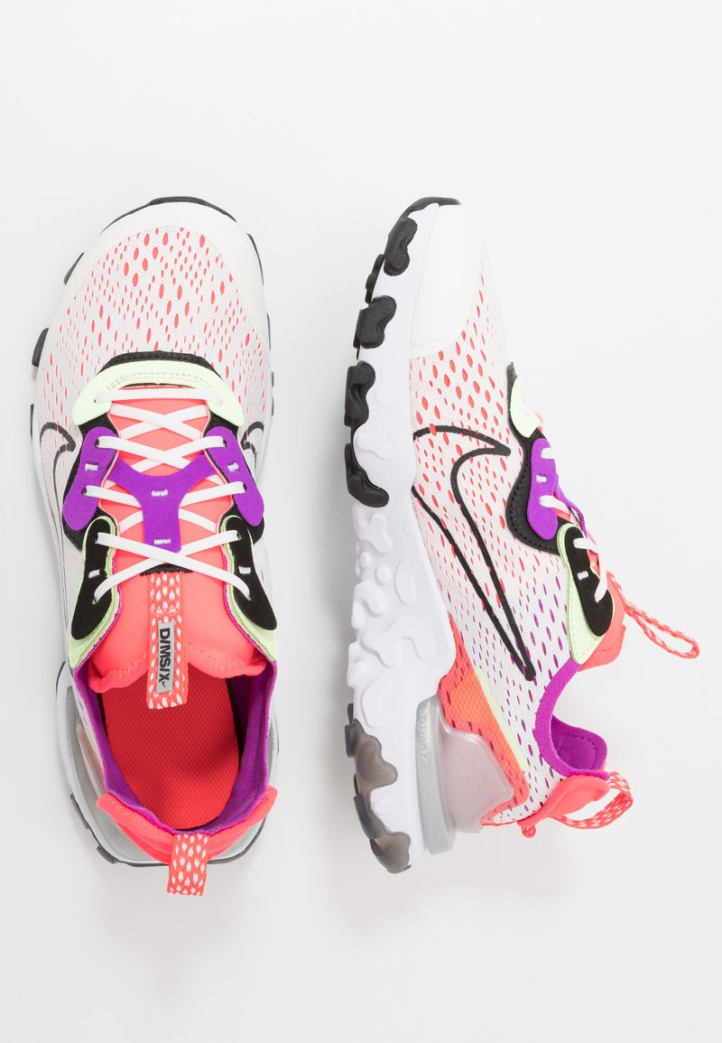 Nike Sportswear - REACT VISION - Sneakers laag - summit white/black/barely volt/laser crimson