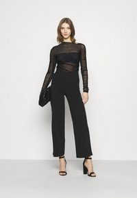 Weekday - MARGERIE LONG SLEEVE - Long sleeved top - solid black - 1