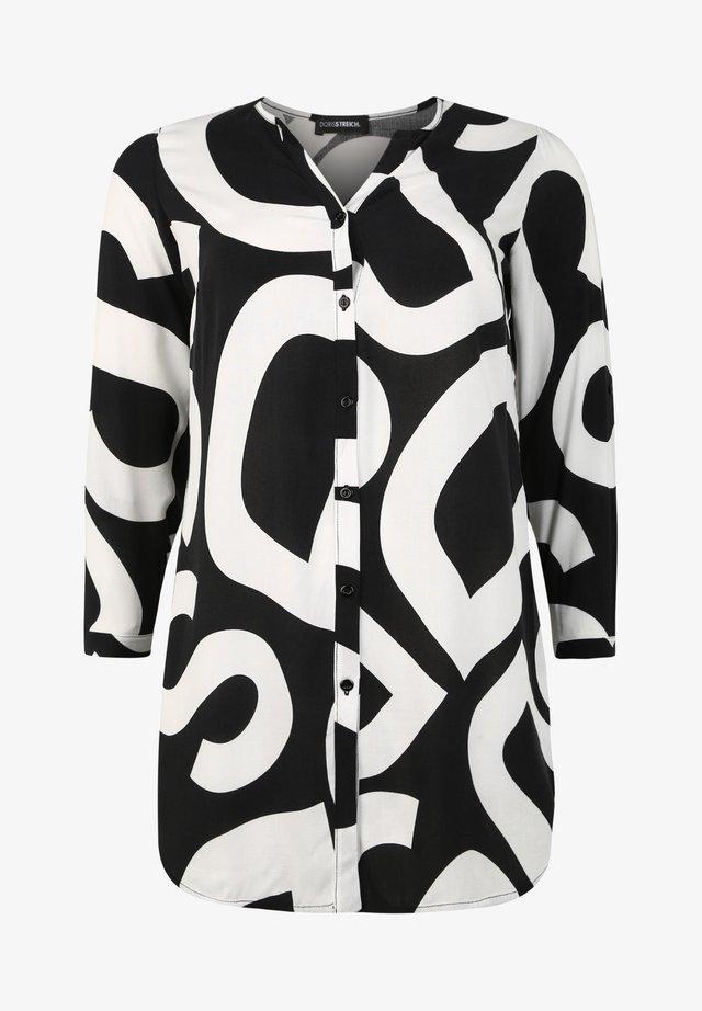 MIT LOGO-PRINT - Blouse - schwarz/weiß