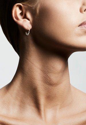 Earrings - ox gold grey mix