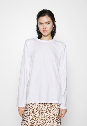 KAI LONG SLEEVE - Langærmede T-shirts - white