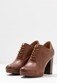 Anna Field - High heeled ankle boots - cognac - 4