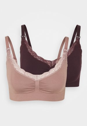 SEAMLESS NURSING EMELIE TRIM BRA 2 PACK - Trekants-bh'er - light dusty lilac