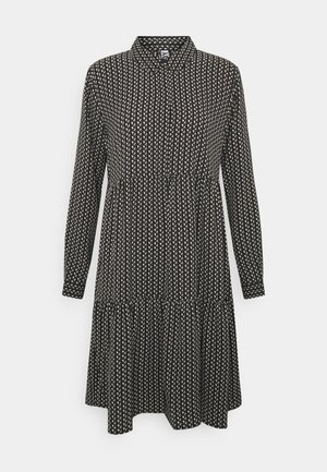 JDYPIPER - Shirt dress - black/egret/natural geometric