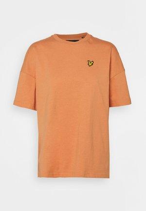 Jednoduché triko - dusk orange