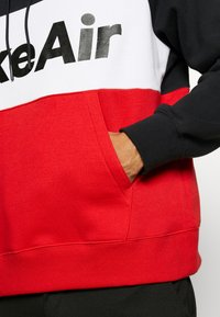 Nike Sportswear - AIR HOODIE - Hoodie - black/white/university red - 5