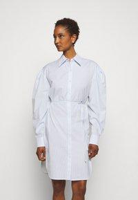 DESIGNERS REMIX - UMBRIA DRESS - Shirt dress - cream/blue - 0