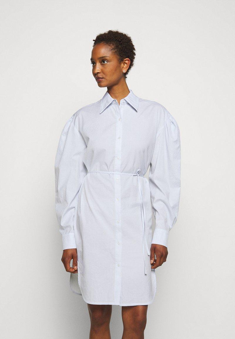 DESIGNERS REMIX - UMBRIA DRESS - Shirt dress - cream/blue