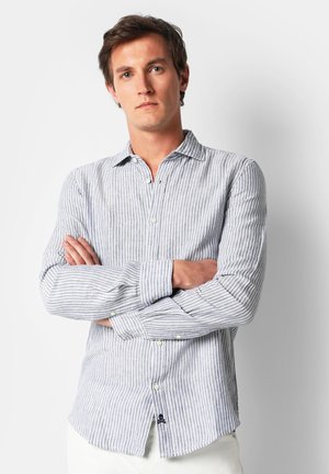 STRIPED LINEN SHIRT - Camicia - white stripes
