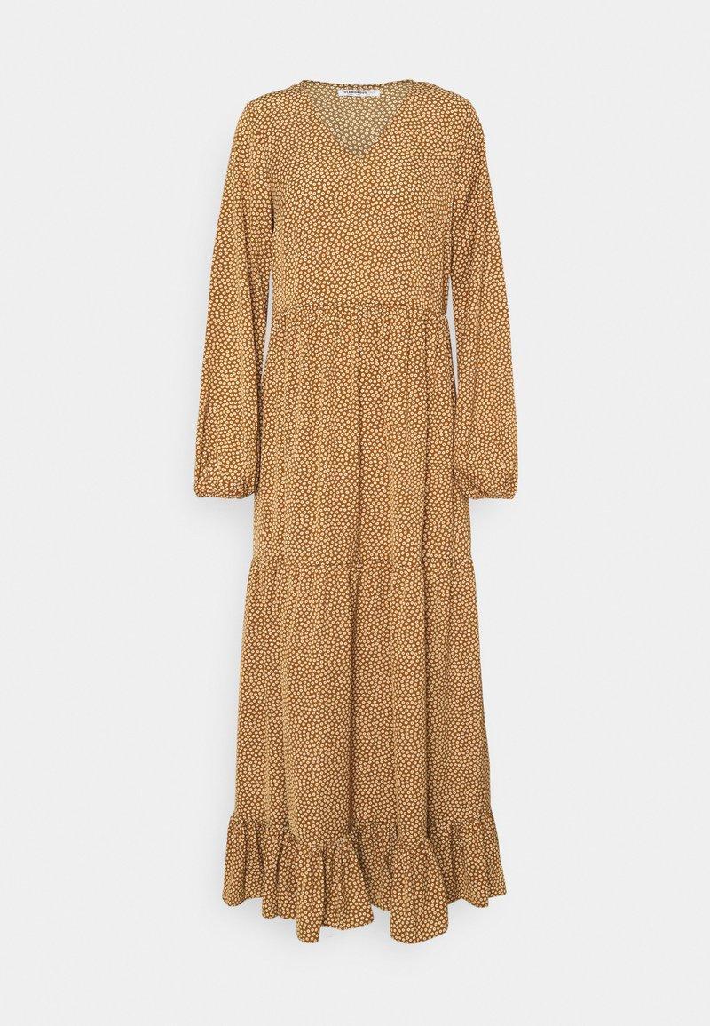 Glamorous Tall - TIERED DRESS - Maxi dress - rust cream