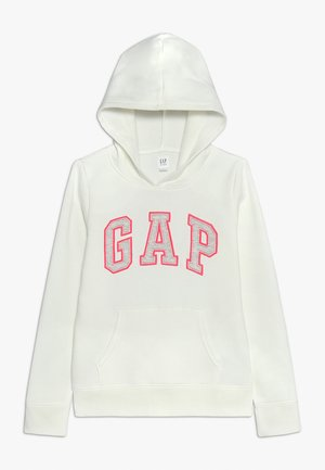 GIRLS ACTIVE LOGO HOOD - Bluza z kapturem - new off white