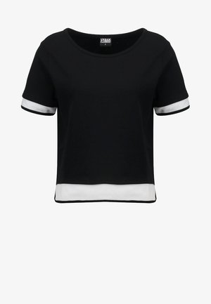 LADIES TERRY - Sweatshirt - black/white