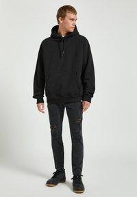 PULL&BEAR - Skinny džíny - dark grey - 1