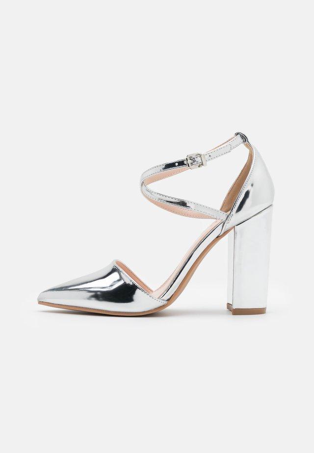 KATY - High heels - silver mirror