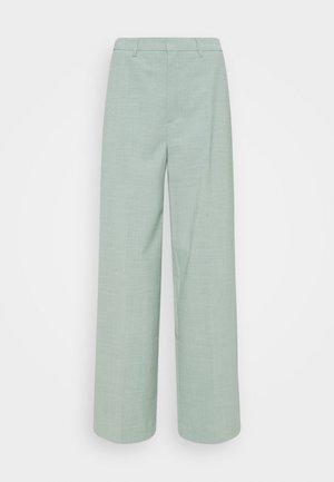 AMALIGZ WIDE PANTS - Trousers - slate gray