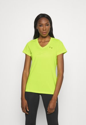 TECH SOLID - Basic T-shirt - yellow/silver
