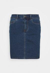 Vero Moda Tall - VMHOT SEVEN SKIRT 2 PACK - Mini skirt - medium blue denim/bright white - 1
