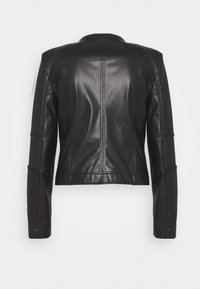 Patrizia Pepe - BUTTON JACKET - Faux leather jacket - nero - 1