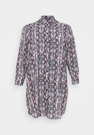 CHAIN PRINT SHIRT DRESS - Skjortekjole - brown pattern