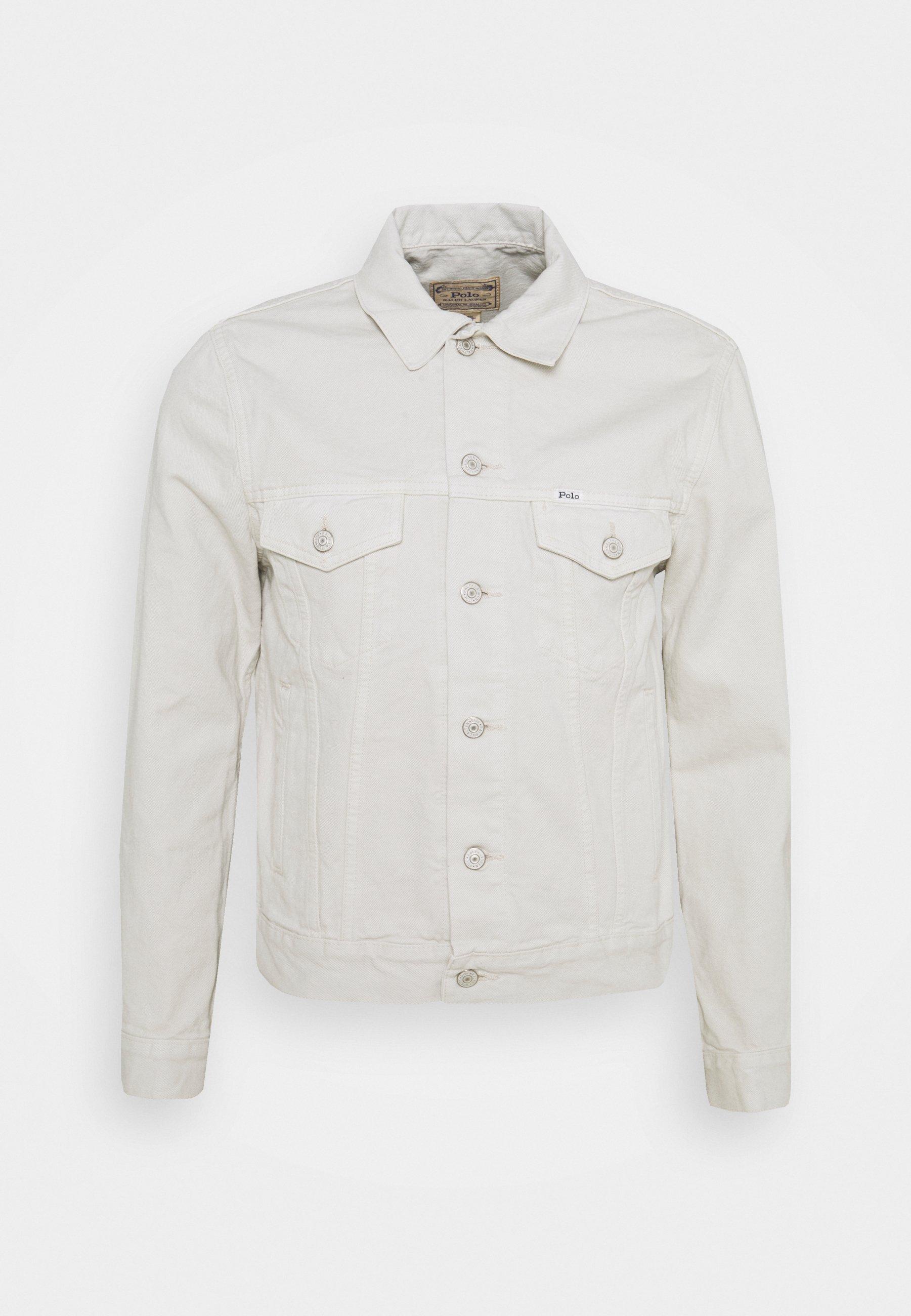 Uomo GARMENT-DYED DENIM TRUCKER JACKET - Giacca di jeans