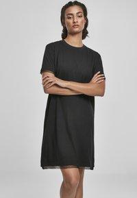 Urban Classics - BOXY LACE  - Jersey dress - black - 0