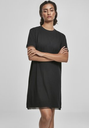 BOXY LACE  - Žerzejové šaty - black